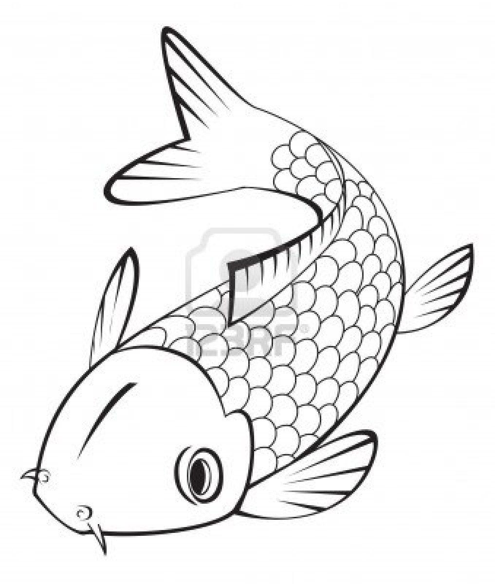 1017x1200 Koi Fish Chinese