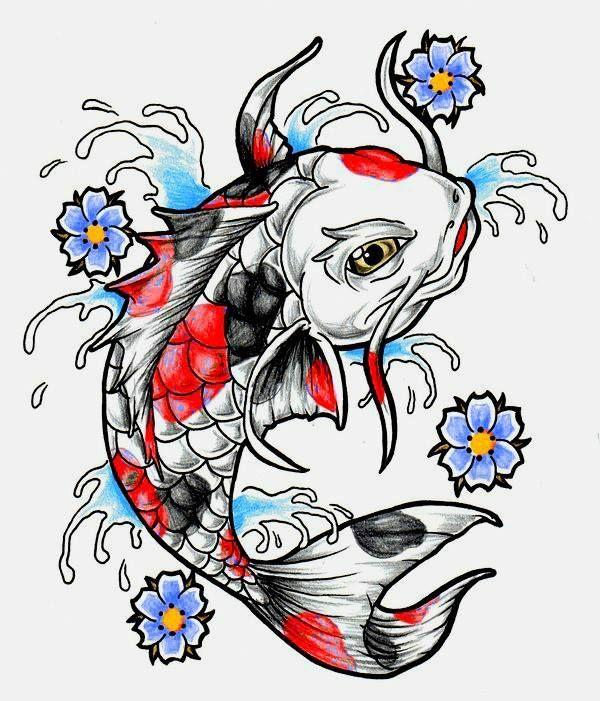 600x701 For Melissa Koi Fish Tattoo, Carp