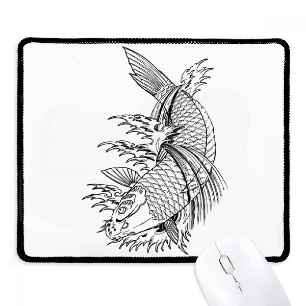 1000x1000 Swimming Tradition Chinese Fish Non Slip Mousepad