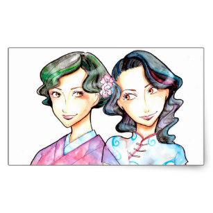 307x307 Chinese Girl Stickers Zazzle Ca