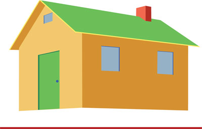 400x257 Draw A House Using Two Point Perspective