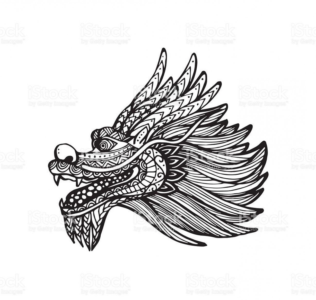 1228x1167 chinese dragon head drawing hd vector of chinese dragon head