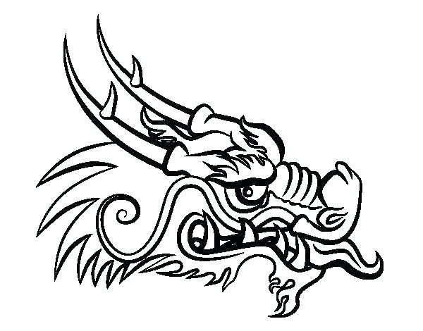600x470 Coloring Pages For New Year Dragon Mask