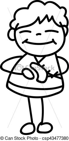 230x470 Hand Drawing Cartoon Character Happy Chinese New Year Hand