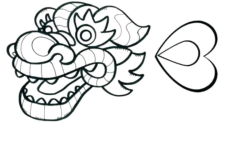 721x466 Chinese New Year Dragon Coloring Pages