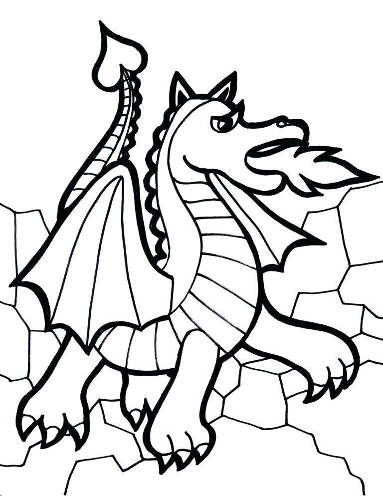 768x994 Chinese New Year Dragon Coloring Pages