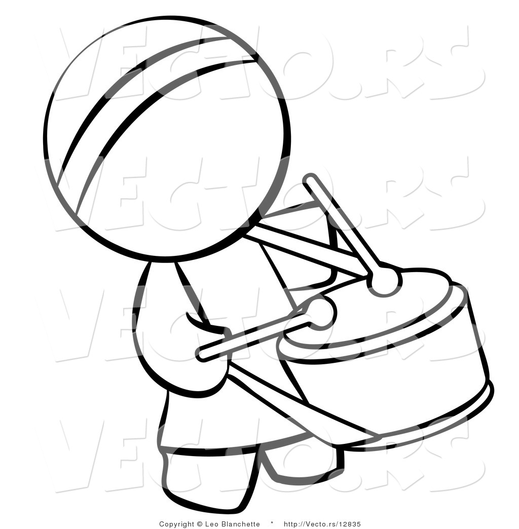 1024x1044 vector of chinese drummer person