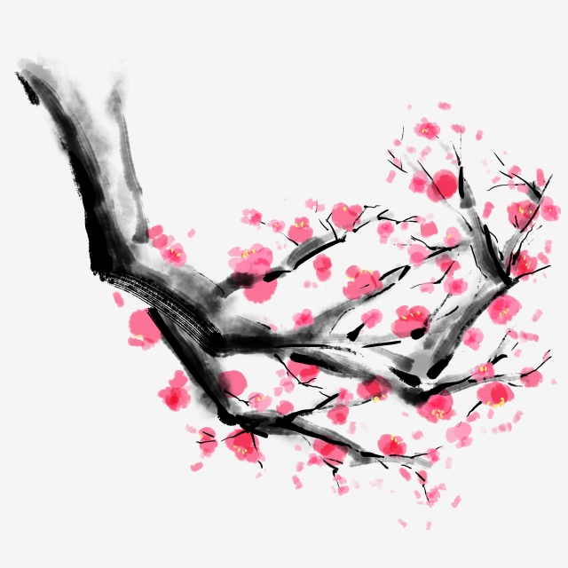 640x640 Chinese Painting Plum Blossom Winter Chinese Style Ink Can Be