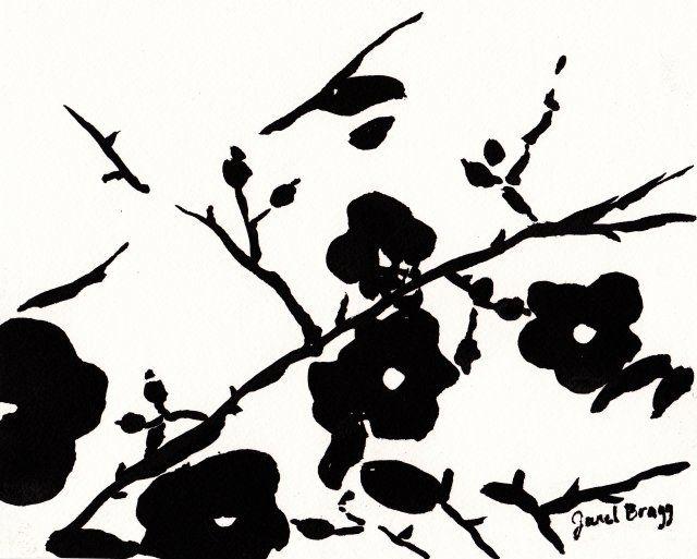 640x513 Wild Roses Painting