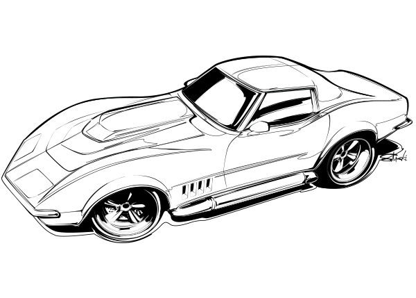 600x429 Artist Drawing Hot Rods