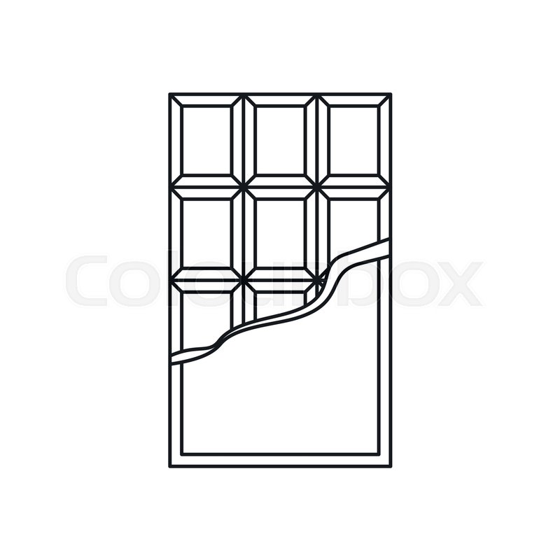 800x800 Chocolate Bar Icon In Outline Style Stock Vector Colourbox