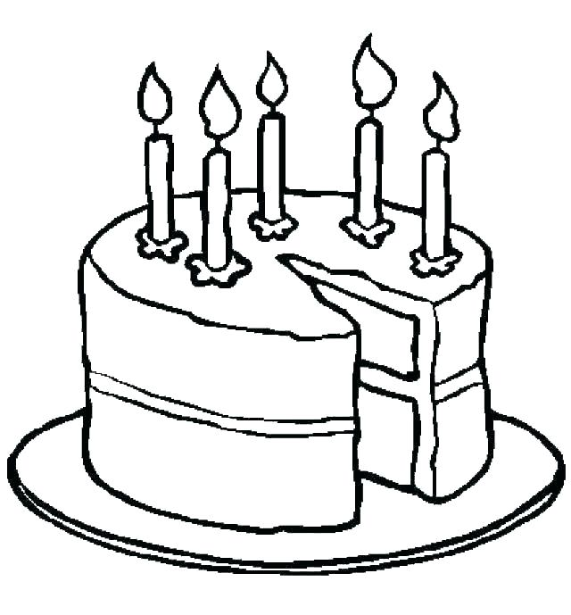 640x689 Cakes Coloring Pages Chocolate Cake Coloring Pages Birthday