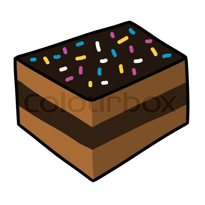 800x800 Cartoon Cake Hand Drawing Vector Stock Vector Colourbox