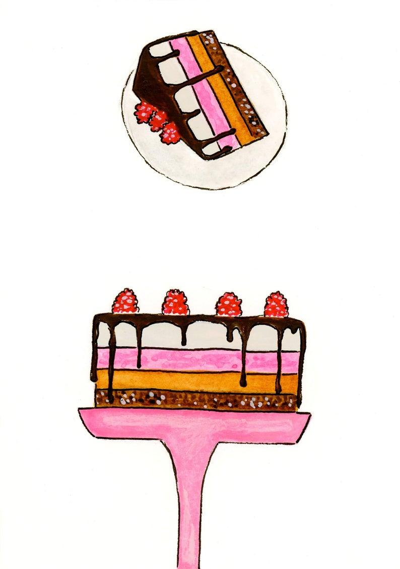 794x1129 chocolate cake chocolate cake card birthday card happy etsy