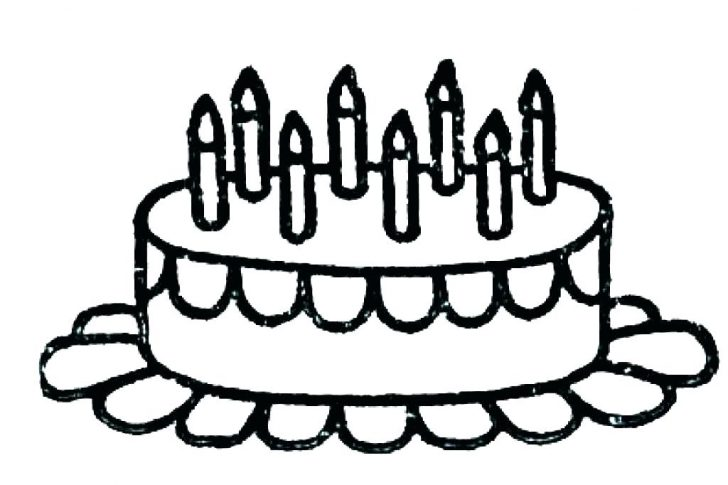 728x485 Chocolate Cake Coloring Pages Color Sheets Lab Drawing A Piece