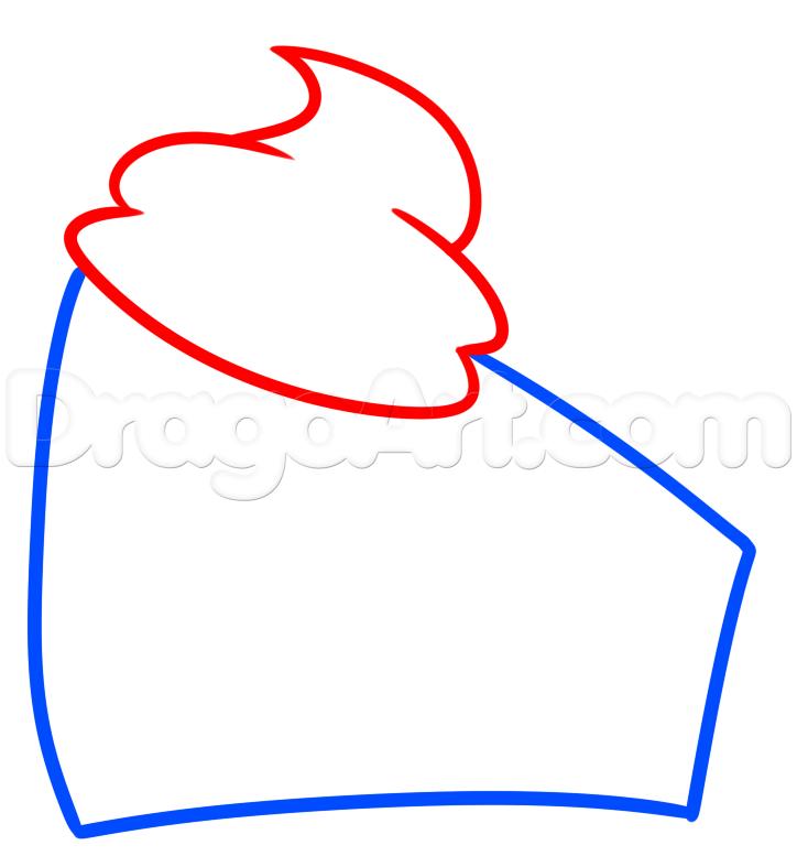 724x787 How To Draw Chocolate Cake, Step