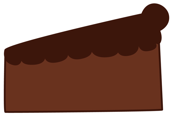 600x411 How To Draw A Sweet Cherry Chocolate Cake Slice In Adobe Illustrator