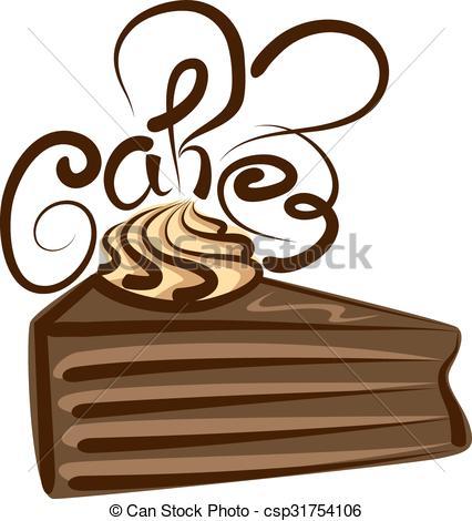426x470 vector chocolate cake vector chocolate cake with calligraphic