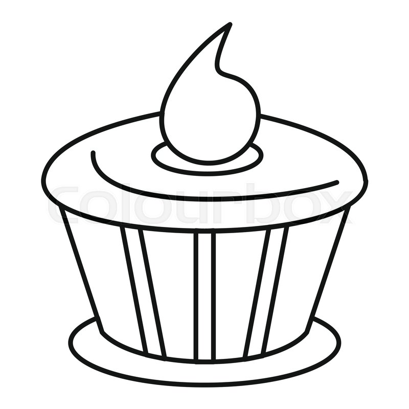 800x800 Cake Chocolate Icon In Outline Style Stock Vector Colourbox