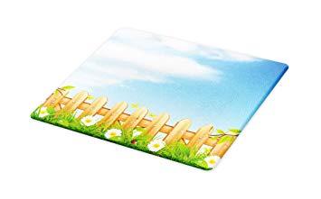 355x221 Lunarable Farmland Cutting Board, Vivid Summer Drawing