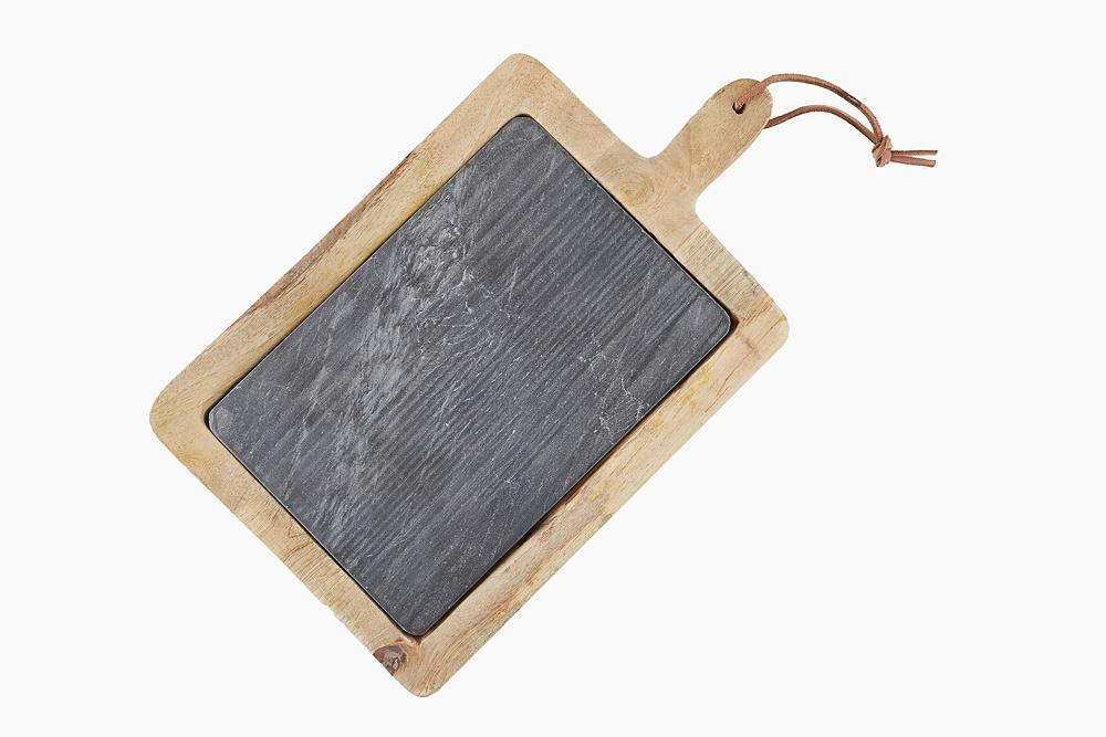 1000x667 Mango Wood And Slate Chopping Board Au Maison Creatd Interiors