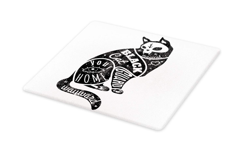 1500x934 Ambesonne Modern Cutting Board, Black Fortune Magician