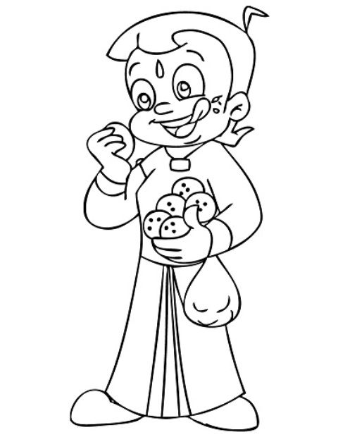 480x620 Chota Bheem Coloring Pages Projects To Try Coloring Pages