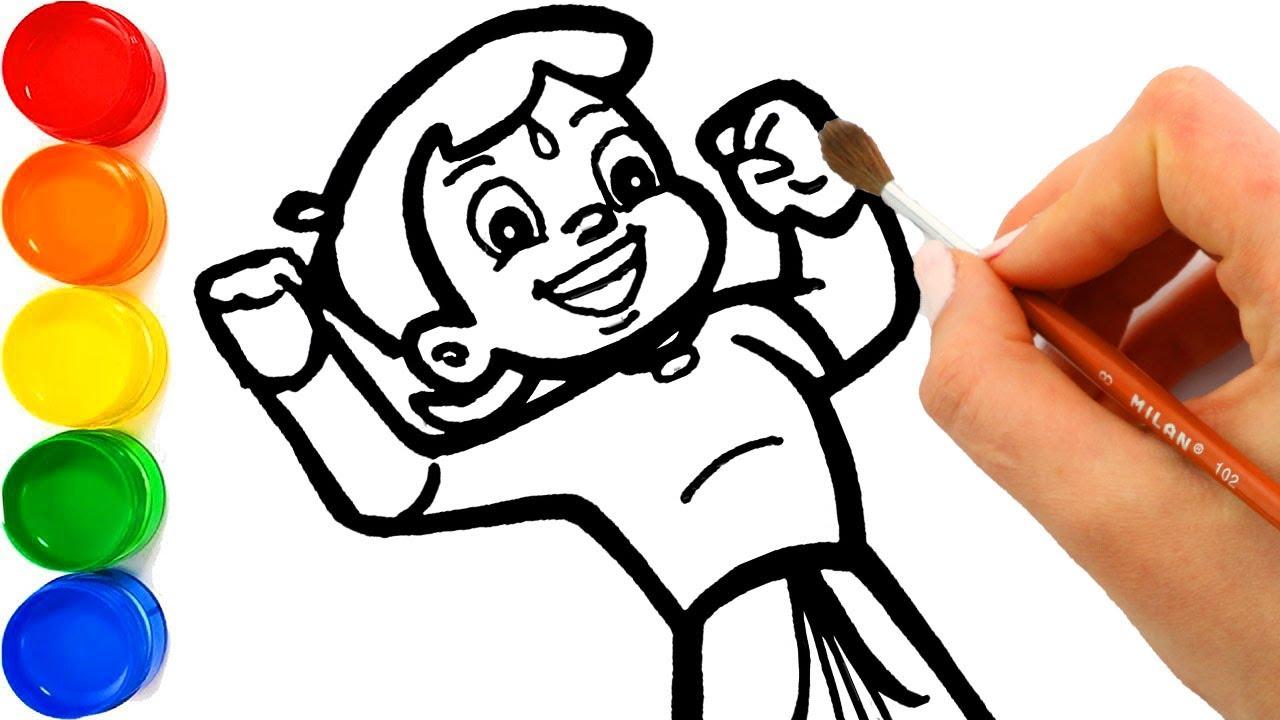 1280x720 Drawing Chhota Bheem Cartoon