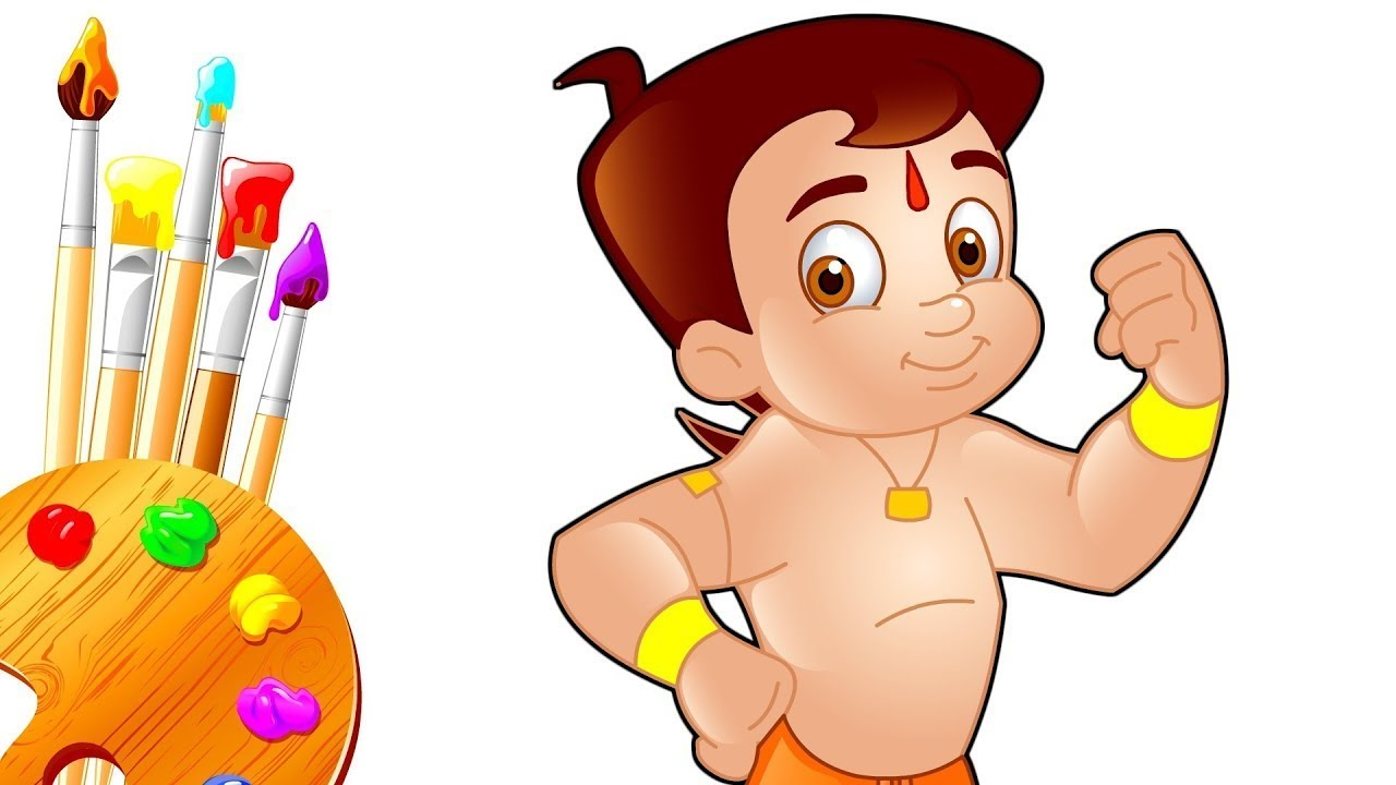 1280x720 How To Draw Chota Bheem Cartoon Character For Children