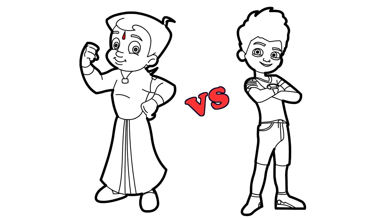 1280x720 How To Draw Super Speedo Vs Chota Bheem Animation Cartoon