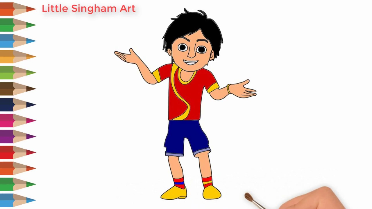 1280x720 Nick Shiva Cartoon Character Drawing How To Draw Nick Shiva