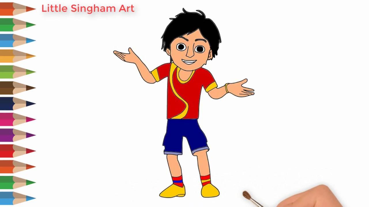 1280x720 Nick Shiva Cartoon Character Drawing How To Draw Nick Shiva