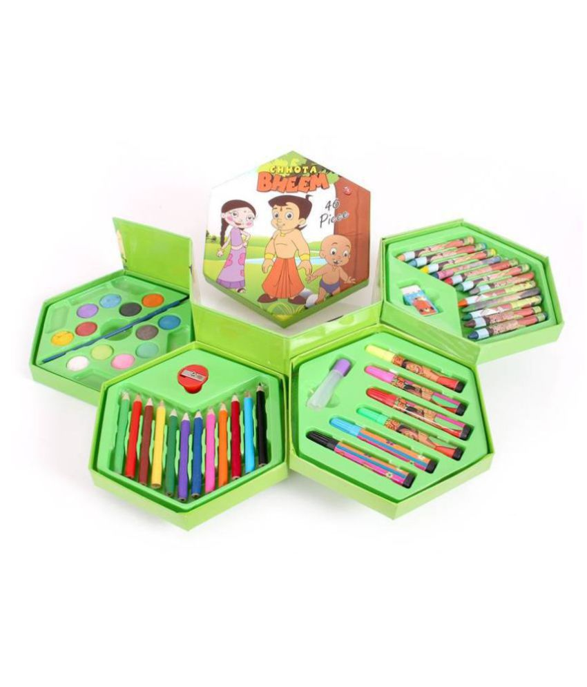 850x995 Chota Bheem Cartoon Pcs Color Drawing And Painting Set