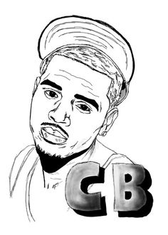 Chris Brown Cartoon Drawing