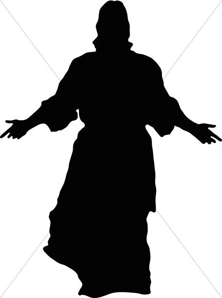 455x612 jesus in silhouette printables images of christ, jesus artwork