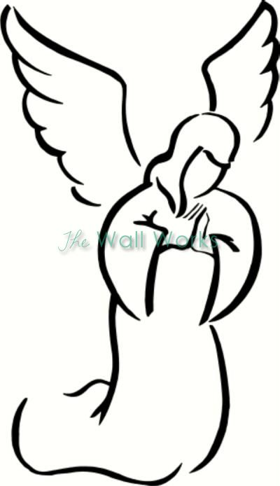 400x694 angel praying cj angel drawing, angel clipart, christmas angels
