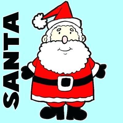 400x400 christmas santa drawings coloring pages clip christmas santa