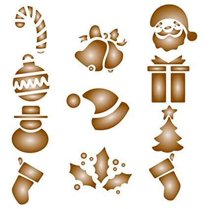 425x425 Christmas Coffee Set Stencil
