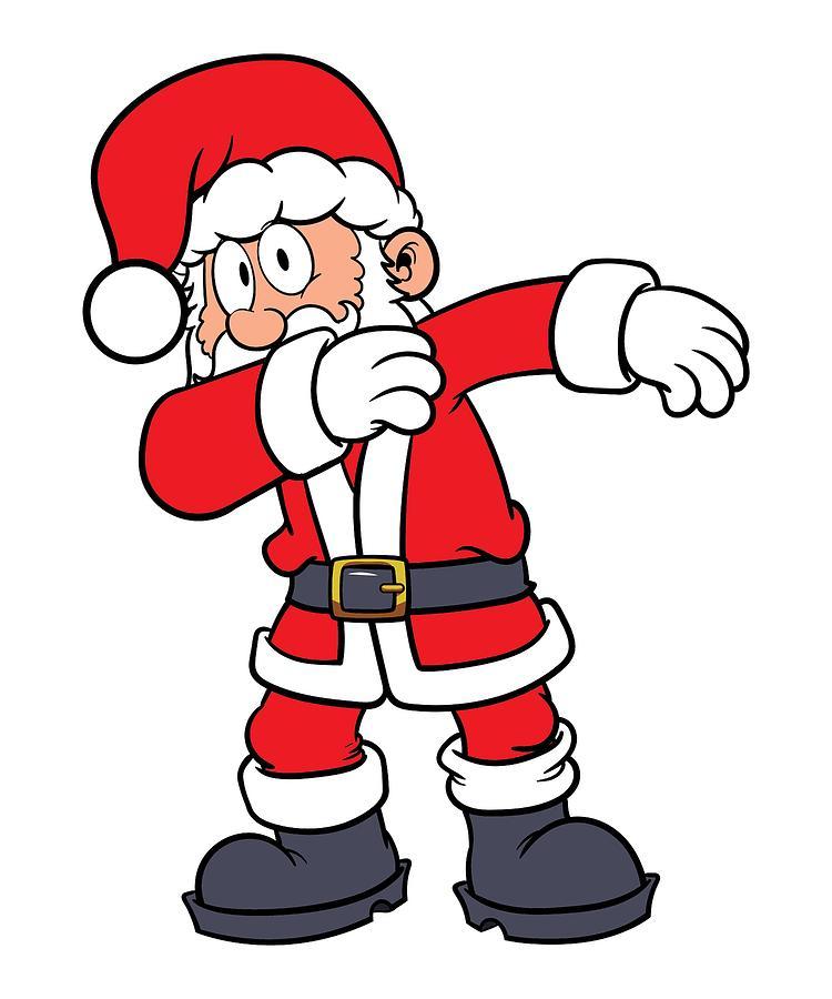 750x900 Cool Dabbing Santa Merry Christmas To All Drawing