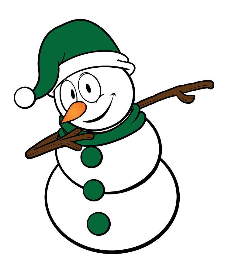 750x900 Cool Dabbing Snowman Winter Fun Christmas Holidays Drawing