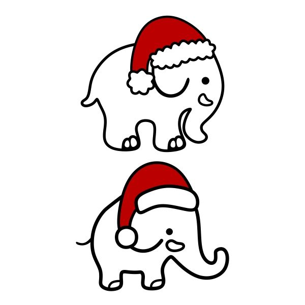600x600 Cute Christmas Elephant Cuttable Designs Cricut Crafts