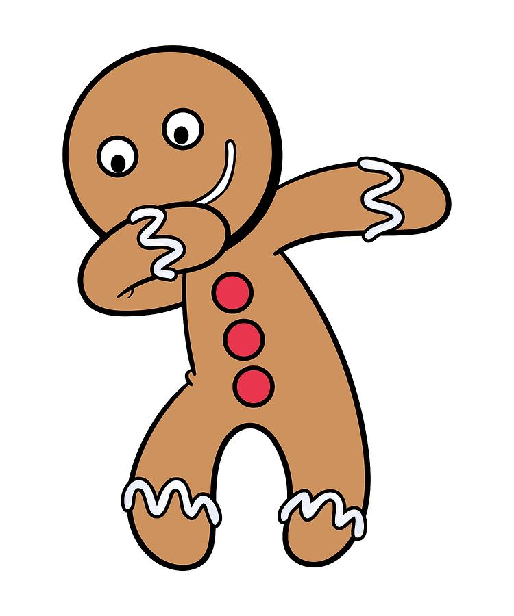 750x900 Fun Dabbing Gingerbread Man Christmas Cookie For The Holiday