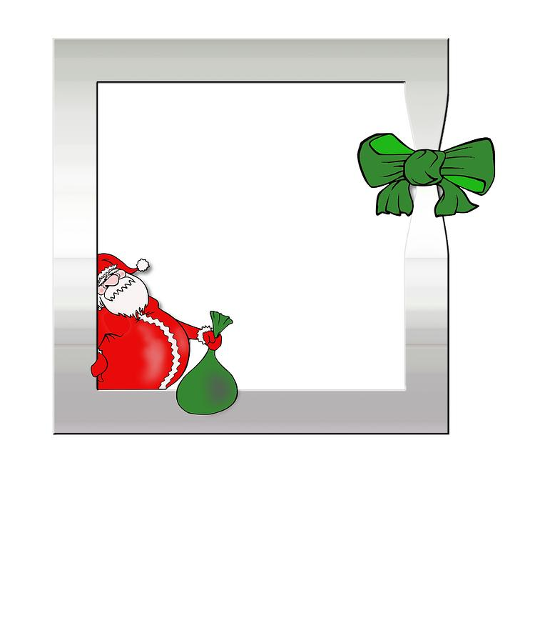 750x900 Santa Claus Totally Sleighed It Merry Christmas Drawing