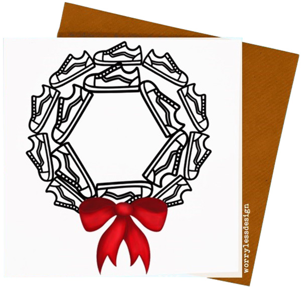 600x572 Worry Less Designs Trainer Wreath Christmas Card Gifts