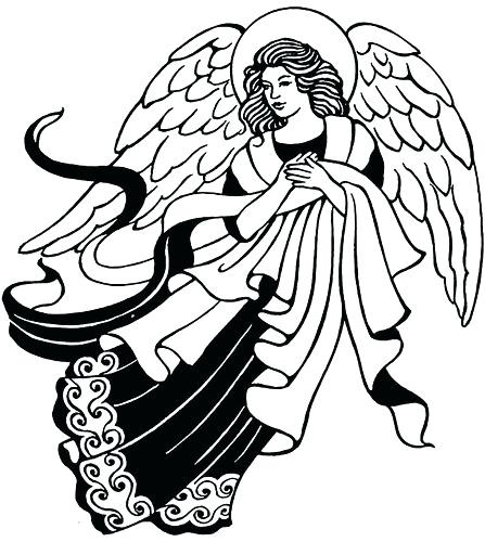 447x500 christmas angel drawings angels angel easy christmas angel