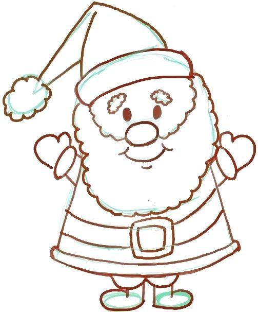 503x606 christmas santa drawings coloring pages clip christmas santa