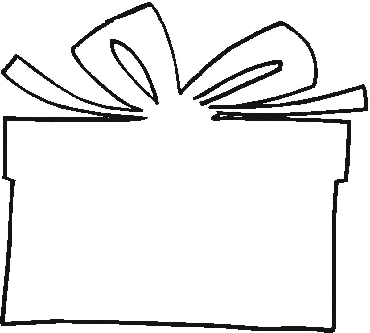 Christmas Gift Box Drawing