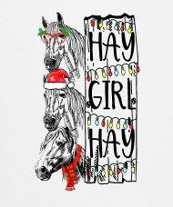 190x228 hay girl hay christmas horse trucker cap spreadshirt