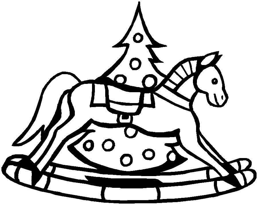 Christmas Horse Drawing | Free download best Christmas Horse Drawing ...