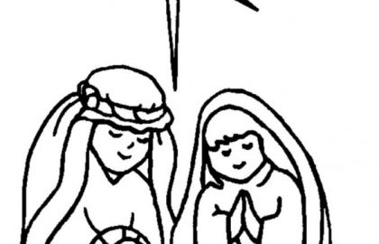420x270 free coloring pages baby jesus in a manger lovely christmas manger